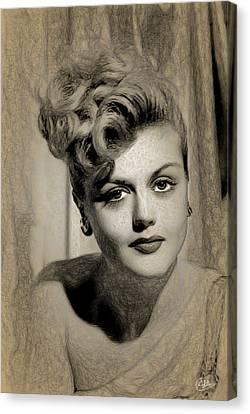 Angela Lansbury Drawing Canvas Print by Quim Abella