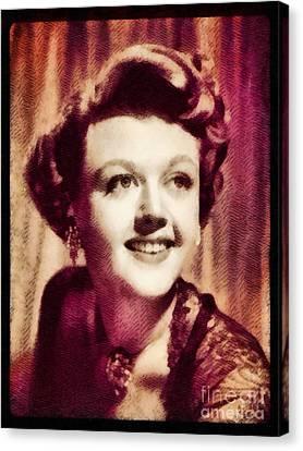 Angela Lansbury, Hollywood Legend By John Springfield Canvas Print by John Springfield