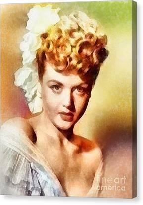 Angela Lansbury, Vintage Hollywood Actress Canvas Print by Frank Falcon