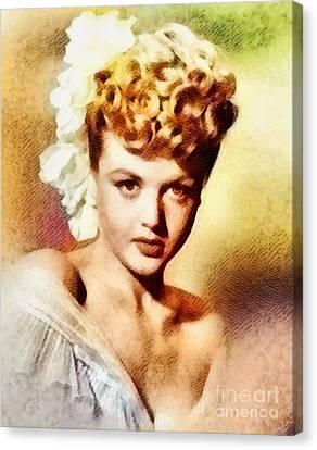 Angela Lansbury, Vintage Hollywood Actress Canvas Print by John Springfield