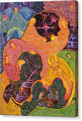 Canvas Print - Angeles Avatares by Pablo Amaringo