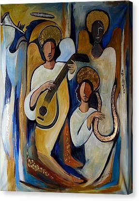 Angelic Choir Canvas Print by Valerie Vescovi