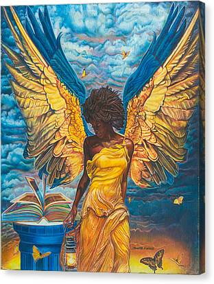 Angelic Guidance Canvas Print by Buena Johnson