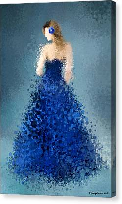 Canvas Print featuring the digital art Angelica by Nancy Levan