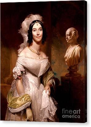 First Ladies Canvas Print - Angelica Van Buren, First Lady by Science Source