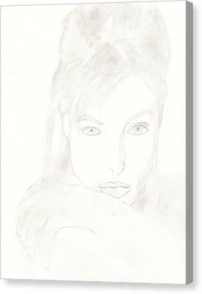 Angelina Canvas Print by Carlos Hyman