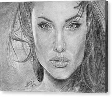 Angelina Jolie Canvas Print by Angelica Medrano