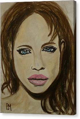 Angelina Jolie Canvas Print by Pete Maier