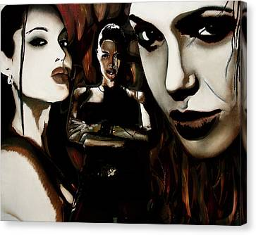 Angelina Jolie Canvas Print by Sarah Whitscell