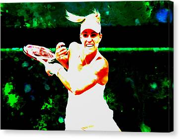 Angelique Kerber 3c Canvas Print by Brian Reaves