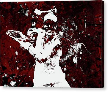 Grand Slam Canvas Print - Angelique Kerber 3f by Brian Reaves