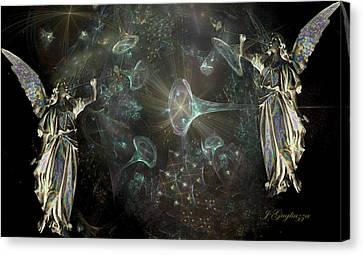 Angels And Trumpets Canvas Print by Jean Gugliuzza