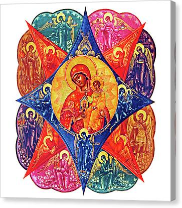 Angels In Colors Canvas Print by Munir Alawi