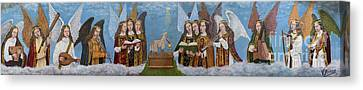 Lute Canvas Print - Angels Musicians by RicardMN Photography