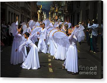 Angels Of The Morning Canvas Print by Al Bourassa