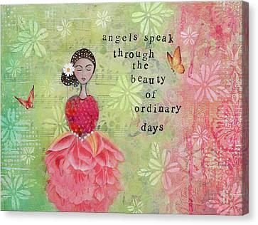 Angels Speak Canvas Print by Margaret Goodwin