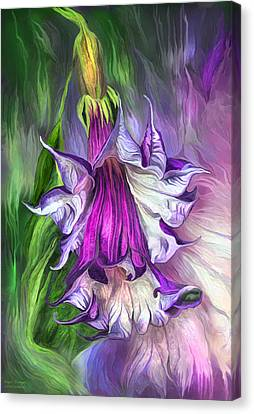 Canvas Print featuring the mixed media Angel's Trumpet by Carol Cavalaris
