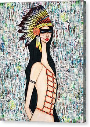 Angeni Canvas Print by Natalie Briney