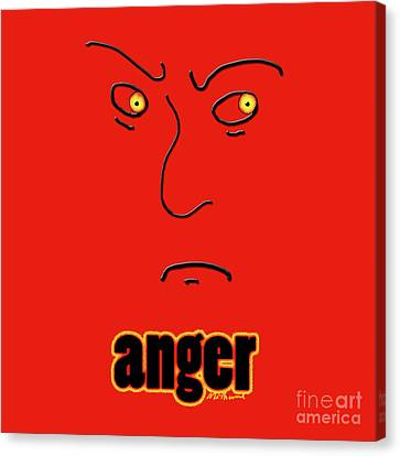 Anger Canvas Print by Methune Hively