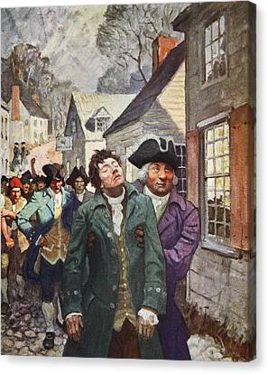 Anger Splits The Country  Canvas Print by Newell Convers Wyeth