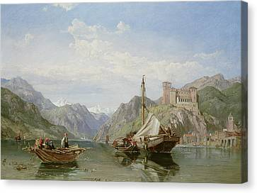 Angera On Lake Maggiore Canvas Print by George Clarkson Stanfield