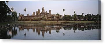 Angkor Wat, A Buddhist Temple Canvas Print by Justin Guariglia