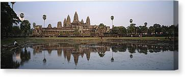 Angkor Wat, A Buddhist Temple Canvas Print by Justin Guariglia