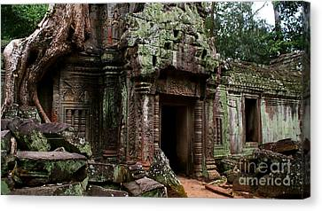 Canvas Print featuring the photograph Angkor Wat by Louise Fahy