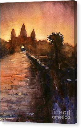 Ruins Canvas Print - Angkor Wat Sunrise 2 by Ryan Fox
