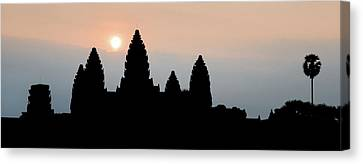 Medieval Temple Canvas Print - Angkor Wat Sunrise by Dave Bowman