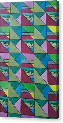 Angles And Triangles Canvas Print by Modern Metro Patterns and Textiles