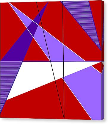 Angles And Triangles Canvas Print