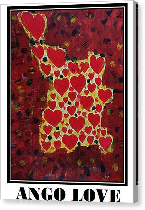 Ango Love Canvas Print
