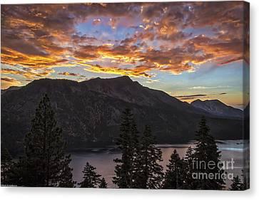 Angora Ridge Sunset 9 Canvas Print by Mitch Shindelbower