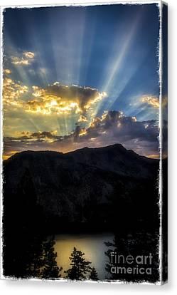 Angora Ridge Sunset Canvas Print by Mitch Shindelbower
