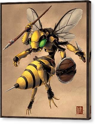 Angry Bee Canvas Print by James Ng