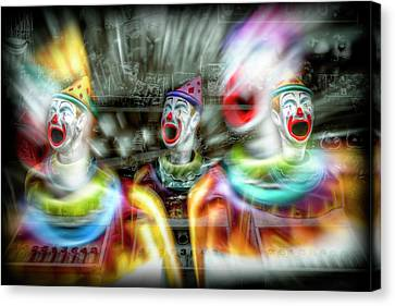Canvas Print featuring the photograph Angry Clowns by Wayne Sherriff