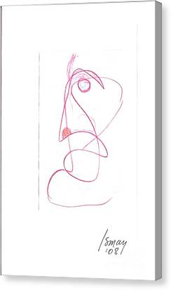 Angry Face - Gesture Drawing Canvas Print by Rod Ismay