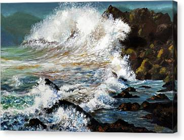 Angry Sea Canvas Print by Walter Fahmy