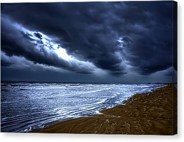 Angry Sky Peaceful Sea Canvas Print by Cecil Fuselier