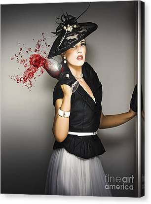 Angry Socialite In Fit Of Pique Canvas Print by Jorgo Photography - Wall Art Gallery
