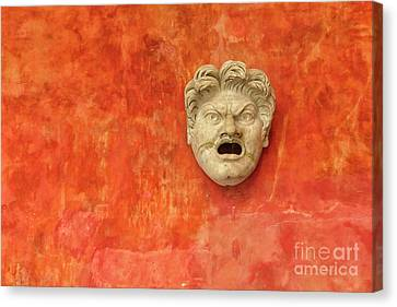 Canvas Print - Angry Stone Face Of White Man by Patricia Hofmeester