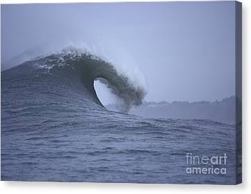 Canvas Print featuring the photograph Angry Wave Angry Day by Stan and Anne Foster