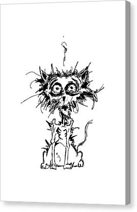 Angst Cat Canvas Print by Nicholas Ely