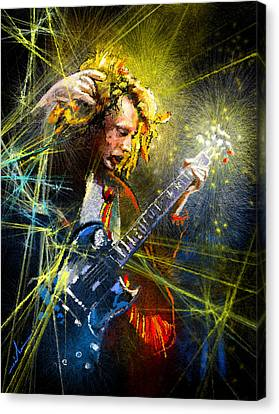 Angus Young Canvas Print by Miki De Goodaboom