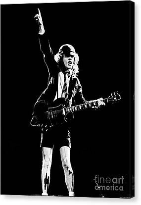 Canvas Print featuring the photograph Angus Young Of Ac/dc 1983 by Chris Walter
