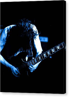 Angus Young On Guitar Canvas Print
