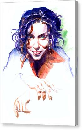 Ani Difranco Canvas Print by Ken Meyer jr