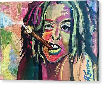 Ani Difranco's Cigar Canvas Print by Rachel  Trapp