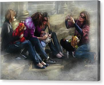 Animal - Dog - How To Humiliate A Dog Canvas Print by Mike Savad